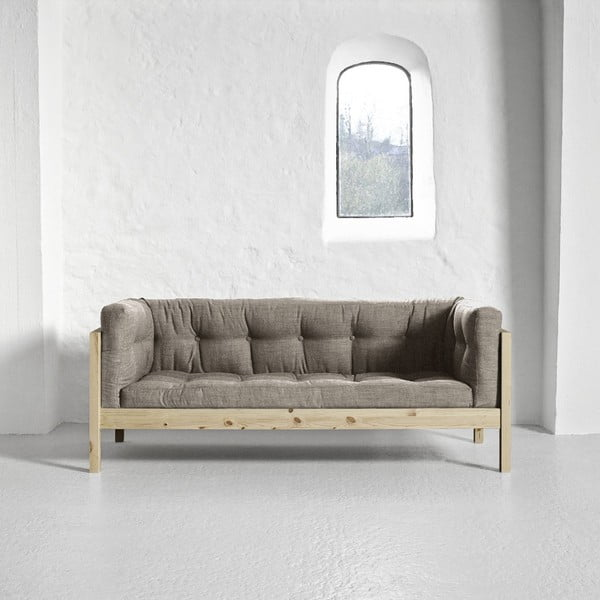 Sofa dwuosobowa Karup Fusion Natural/Linoso Light Gray