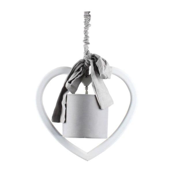 Drewniana lampa sufitowa Heart