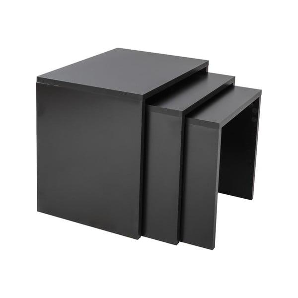 Zestaw 3 stolików Kina Black
