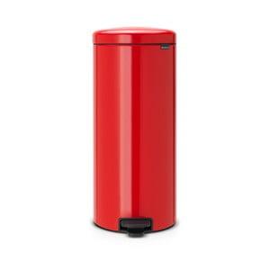 Czerwony kosz na śmieci Brabantia, 30l