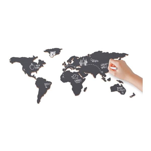 Tablica naścienna Mapa świata