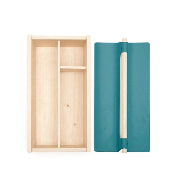 Niebieska skrzynka na narzędzia z drewna jesionowego HARTÔ