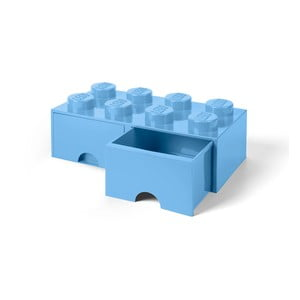 Jasnoniebieski pojemnik z 2 szufladami LEGO®