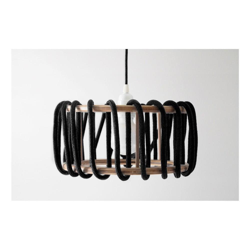 Czarna lampa wisząca EMKO Macaron, ø 30 cm