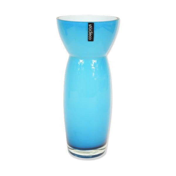 Szklany wazon Sapien, niebieski