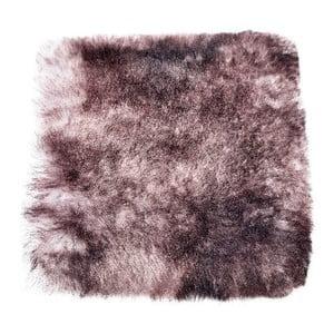 Poduszka futrzana do siedzenia z krótkim włosiem Silver, 37x37 cm