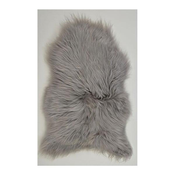 Owcza skóra z długim włosiem Grey, 100x60 cm