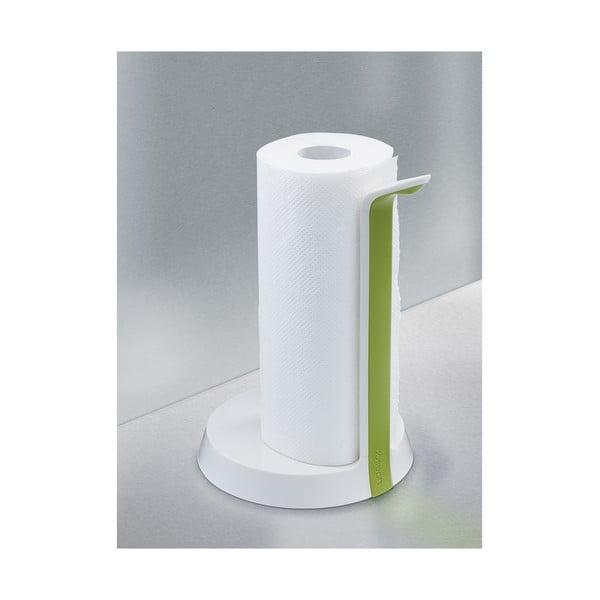 Biało-zielony stojak na ręczniki papierowe Joseph Joseph Easy-Tear