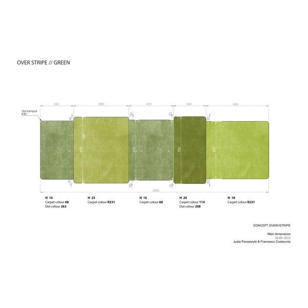 Zielony dywan Over Stripe EMKO Over Stripe