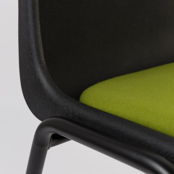 Krzesło Back to Gym, czarno-zielone