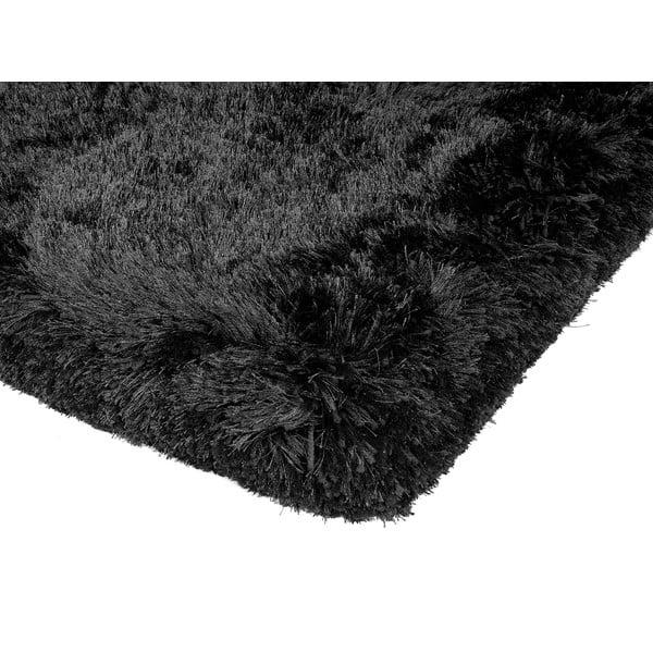 Kudłaty dywan Shaggy Plush Black, 140x200 cm