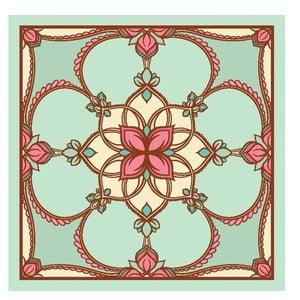 Zestaw 2 mat stołowych Nisha Aqua Decor, 20x20 cm