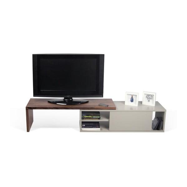 Szary stolik regulowany pod TV TemaHome Move