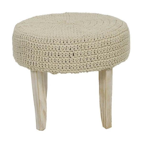 Stołek z plecionym siedziskiem Cream, 48x40 cm