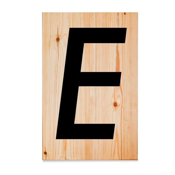 Drewniana tabliczka Letters E