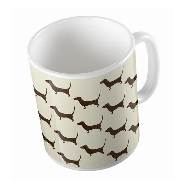 Ceramiczny kubek Long Dog, 330 ml