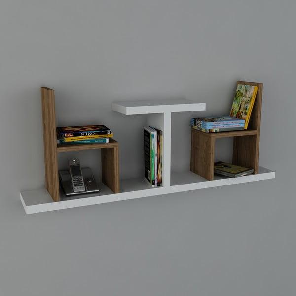 Półka Sense Book White/Walnut, 22x110x43 cm