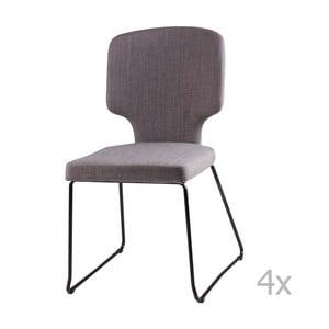 Zestaw 4 jasnoszarych krzeseł sømcasa Dana