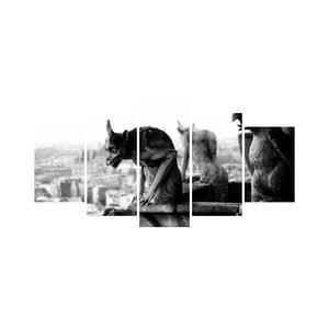 Wieloczęściowy obraz Black&White no. 54, 100x50 cm