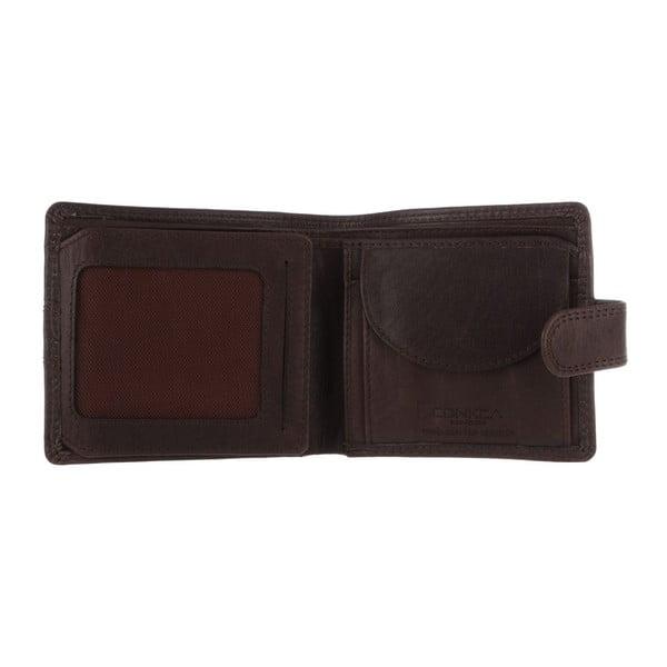Skórzany portfel Oscar Darkest Brown