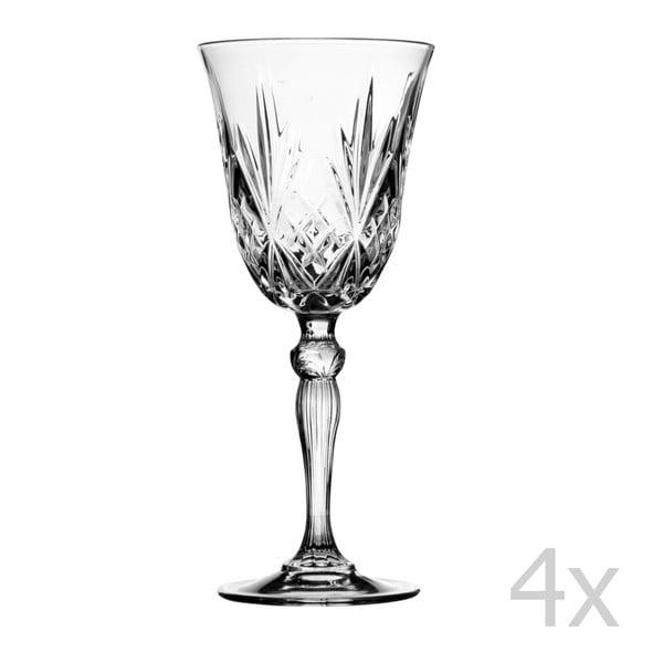 Zestaw 4 kieliszków do wina Melodia, 210 ml