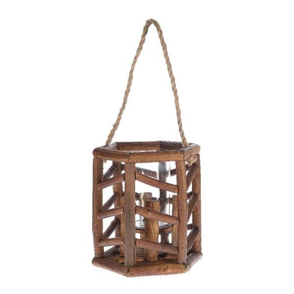 Lampion drewniany Bamboo, 24x27 cm