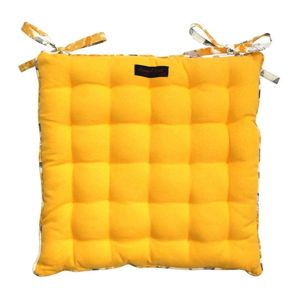 Żółta poduszka na krzesło Ragged Rose Paddy Plain