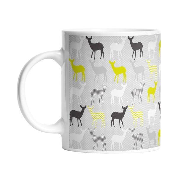 Kubek ceramiczny Lime Deers, 330 ml