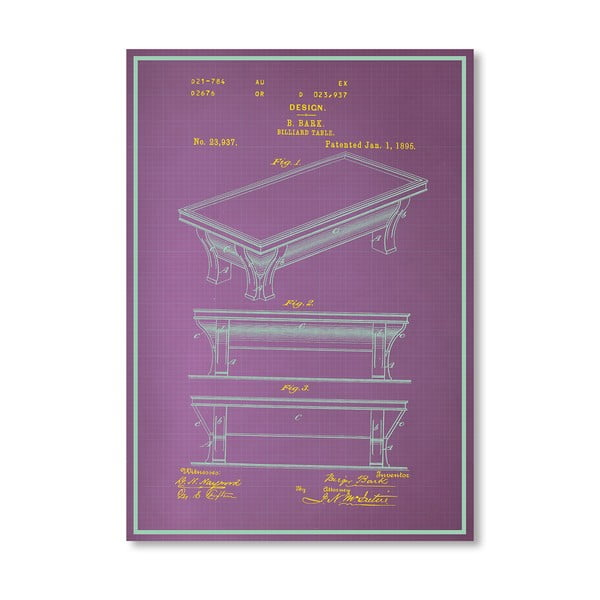 Plakat Billiard Table, 30x42 cm