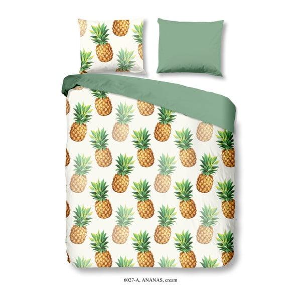 Bawełniana pościel dwuosobowa Good Morning Premento Ananas, 200x240 cm