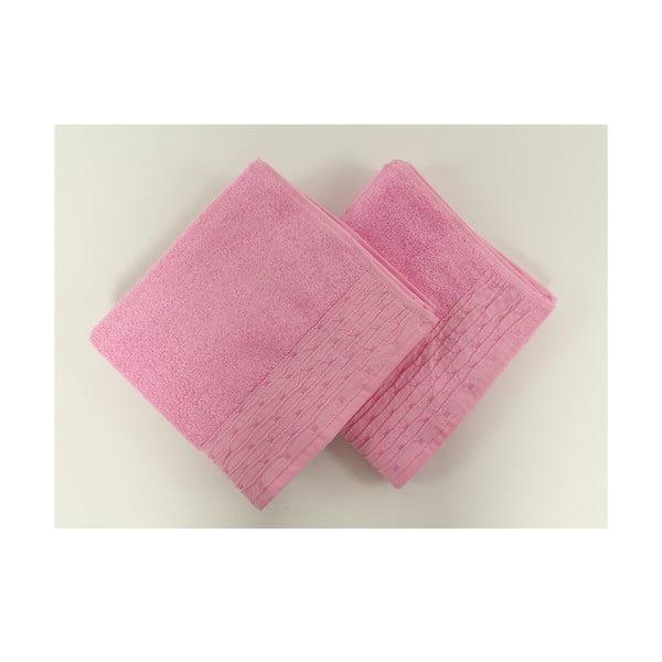 Komplet 2 ręczników Yeni Pink, 50x90 cm