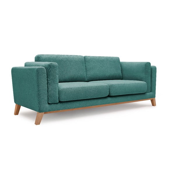 Turkusowa sofa 3-osobowa Bobochic Paris Enjoy