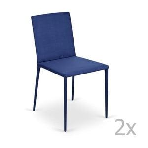 Zestaw 2   niebieskich krzeseł Garageeight Ikaalinen