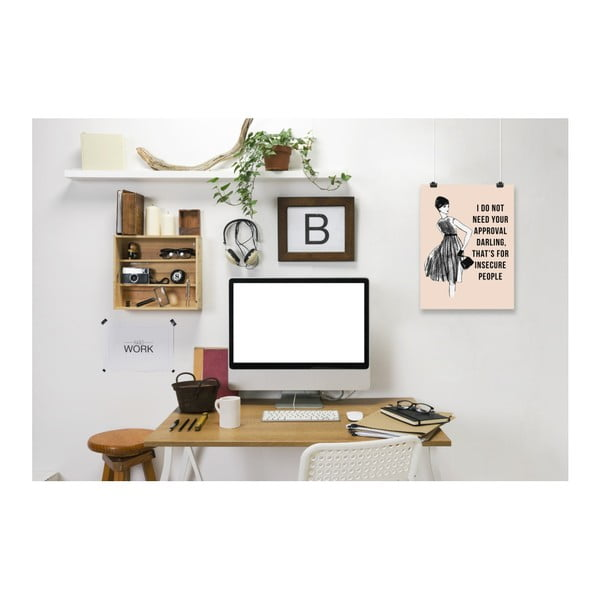 Plakat Americanflat I Do Not Need Your Approval, 30x42 cm