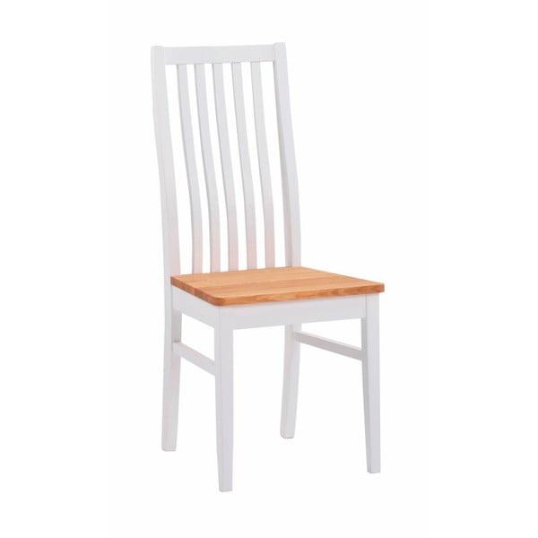 Zestaw 2 białych krzeseł z drewna dębowego Folke Rock
