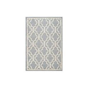 Wełniany dywan Elle 121x182 cm, szary