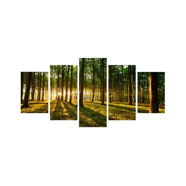 Pięcioczęściowy obraz Drzewa