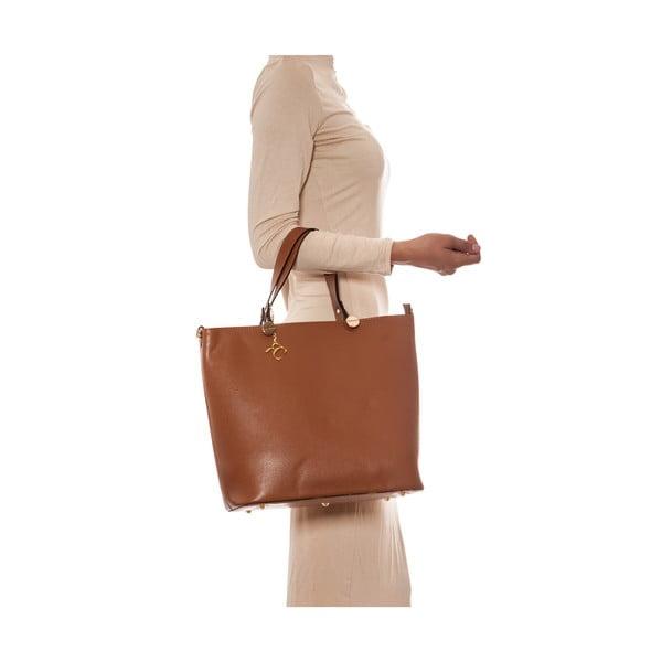 Skórzana torebka Damien 432 Cognac