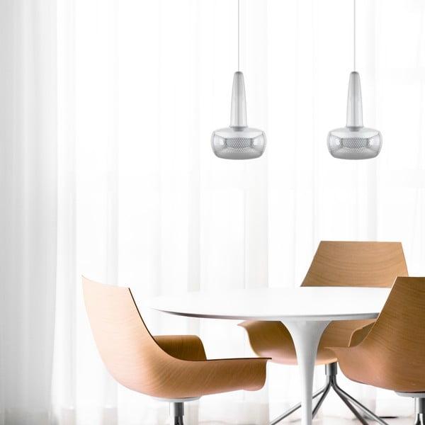 Srebrna błyszcząca lampa wisząca VITA Copenhagen Clava, Ø21,5cm
