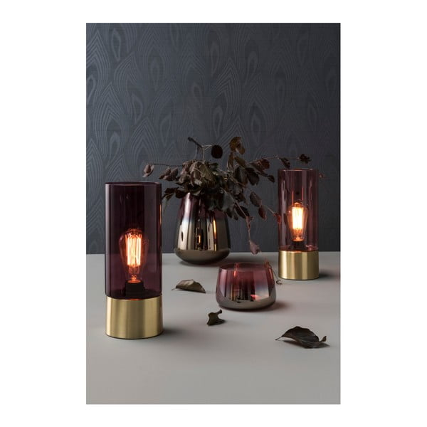 Różowa lampa stołowa Leitmotiv LAX
