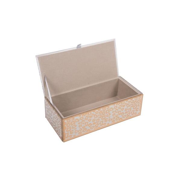 Szklana szkatułka na biżuterię Gold Panther
