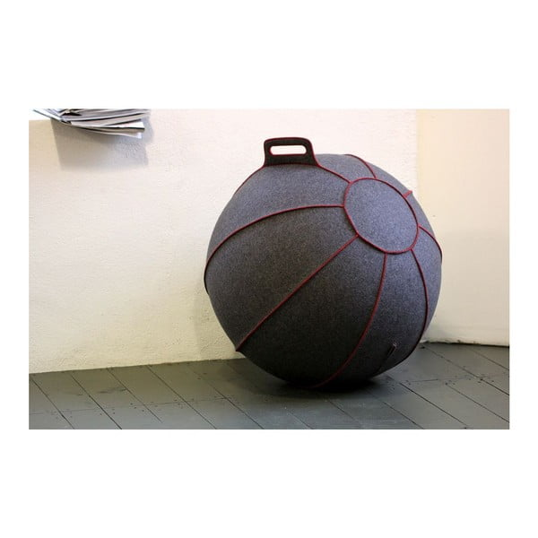 Piłka do siedzenia VLUV 65 cm, filc szary