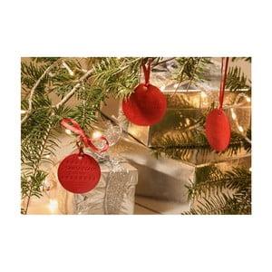 Zestaw 4 czerwonych zapachowych ozdób świątecznych e-my