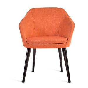 Pomarańczowe krzesło Charlie Pommier S