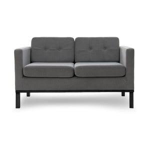 Sofa dwuosobowa VIVONITA Jonan Light Grey, czarne nogi