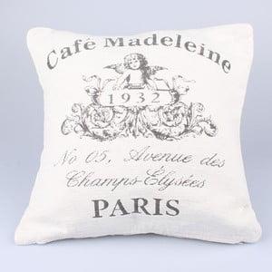 Poszewka na poduszkę Café Paris, biała