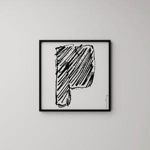 Plakat Litera P, 50x50 cm