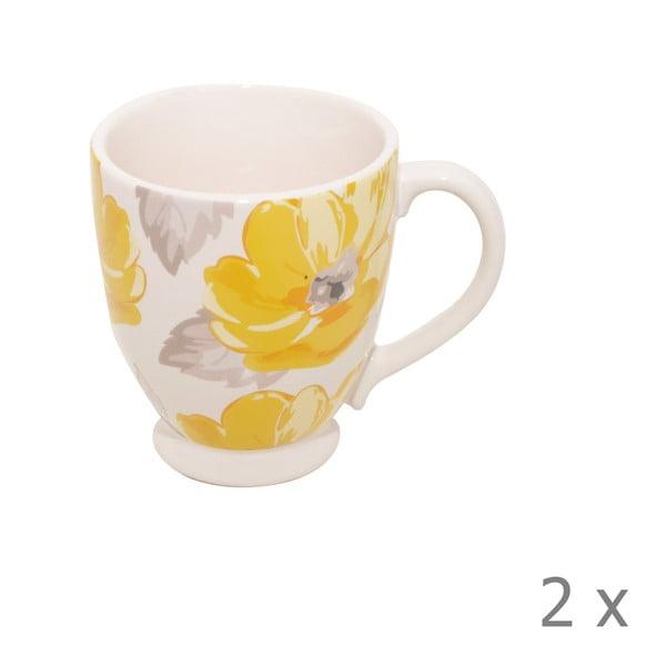 Komplet 2 kubków Elise Floral, 300 ml