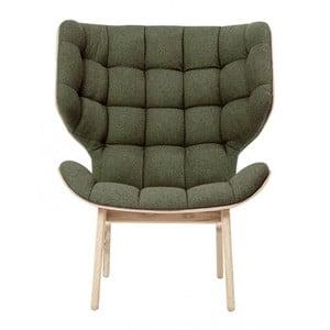 Zielony fotel NORR11 Mammoth Fluffy