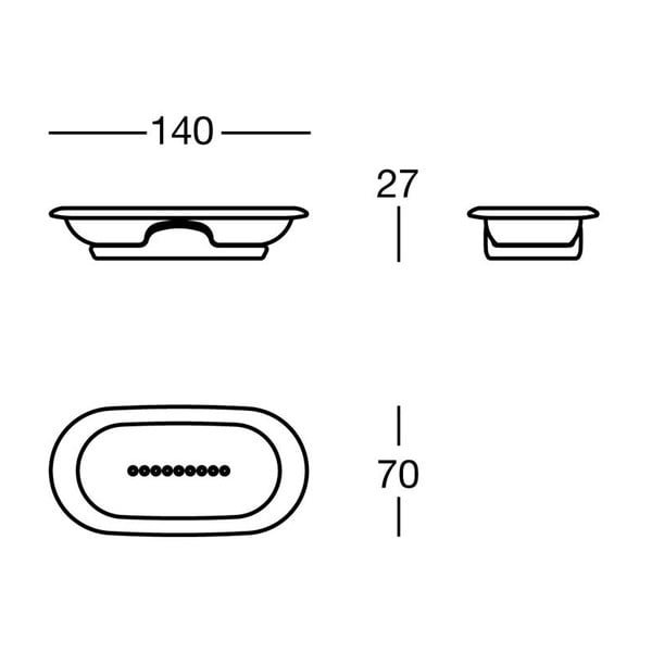 Mydelniczka White Soap, 14x2,7x7 cm